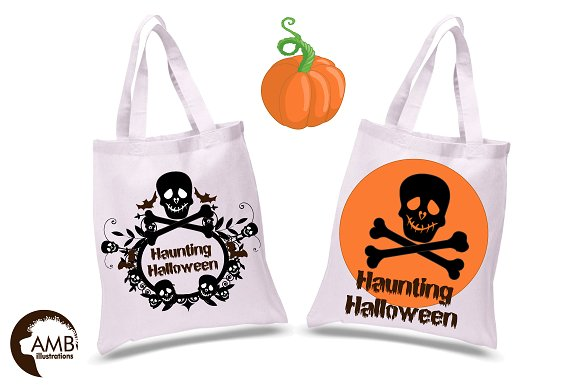 Halloween haunting clipart AMB-996 in Illustrations - product preview 1