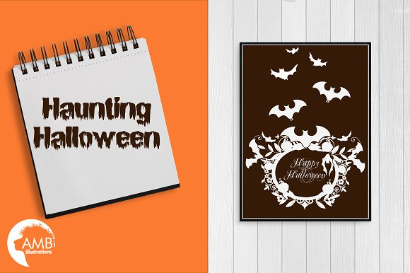 Halloween haunting clipart AMB-996 in Illustrations - product preview 4