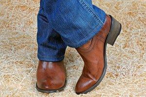 Vintage brown cowboy boots