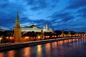 Evening view of Moscow Kremlin
