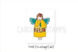 Wishing Angel Digital Stamp