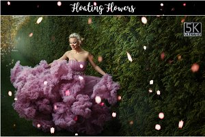 5K Floating Flowers Overlays