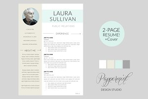 Resume Template + Cover Letter  WORD