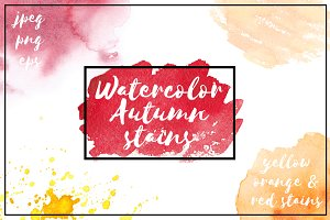 Watercolor Autumn Stains