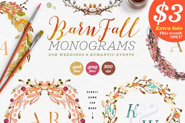 8 Barn Fall Wedding Monograms VII
