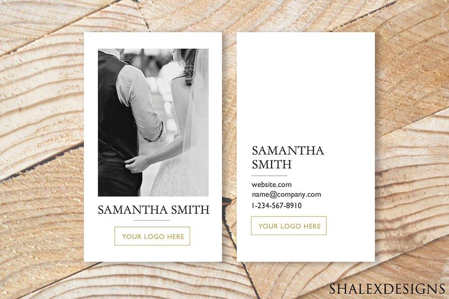 Wedding Business Card PSD Template