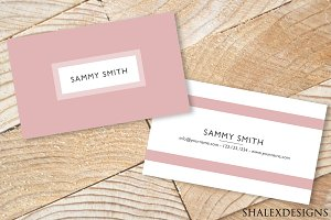 Pink Business Card PSD Template