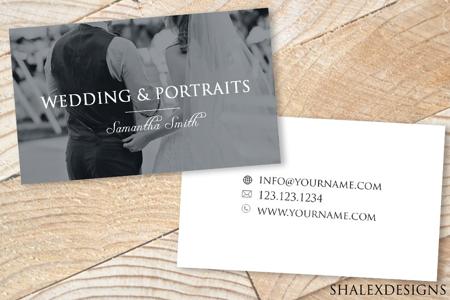 Wedding Business Card Template PSD in Business Card Templates