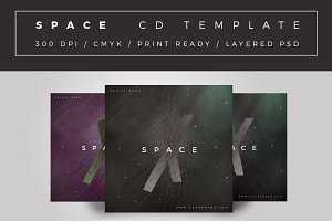 Space Cd Cover Template
