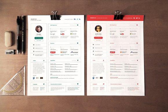 ui concept resume resume templates creative market