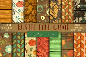 Rustic fall wood backgrounds