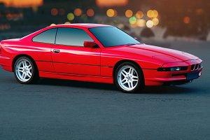 BMW 850i Red