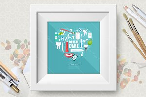 Dental care ector poster