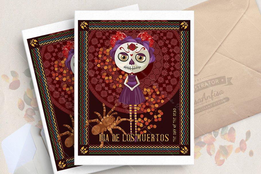 Halloween. Dia de los muertos in Illustrations - product preview 8