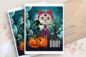 Halloween. Dia de los muertos