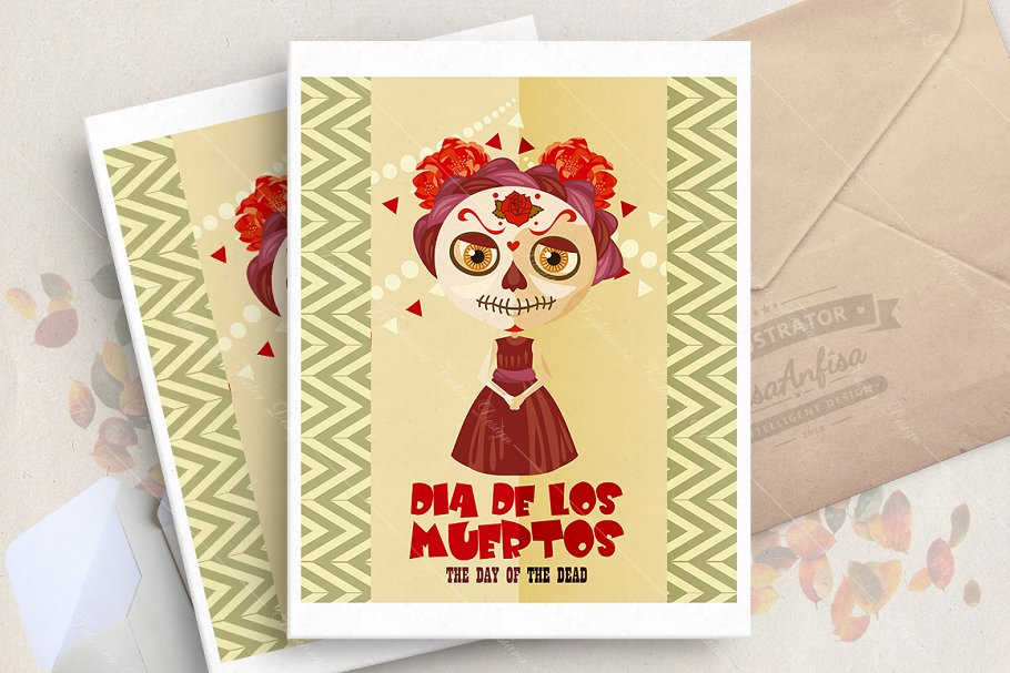 Halloween. Dia de los muertos in Illustrations - product preview 8