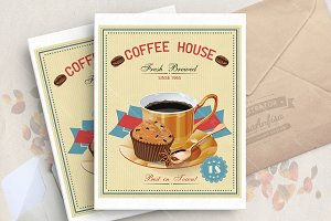 Coffee vector poster