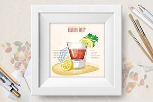 Cocktail Bloody Mary poster