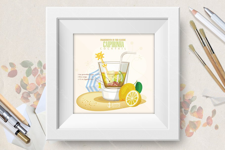 Cocktail Caipirinha poster in Illustrations - product preview 8