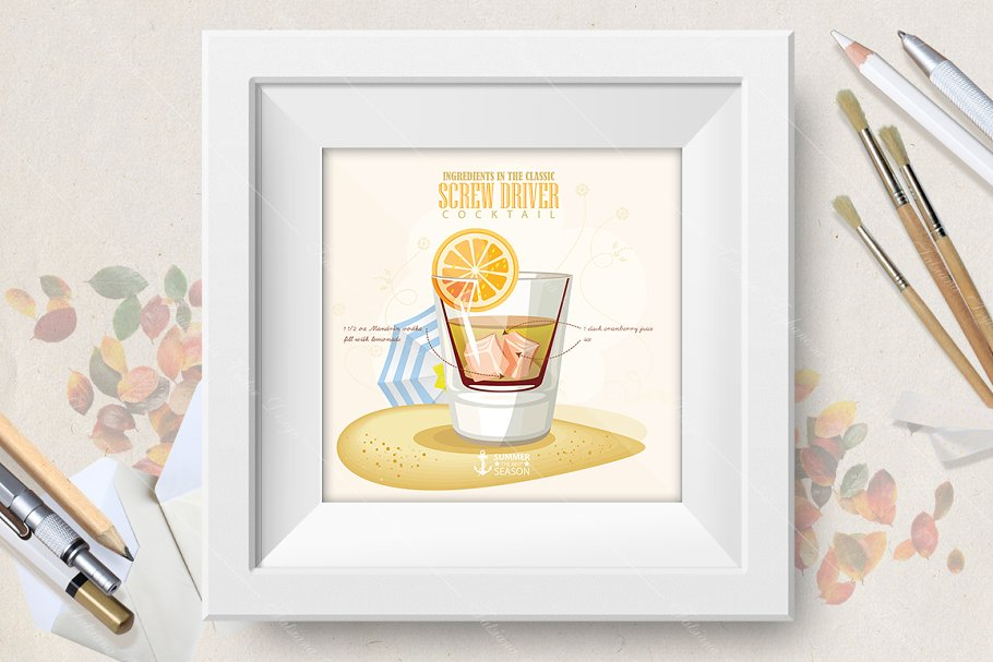 Cocktail Screw Driver poster in Illustrations - product preview 8