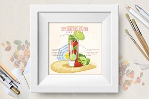 Cocktail Strawberry Mojito poster
