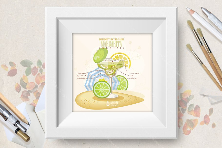 Cocktail Margarita poster in Illustrations - product preview 8