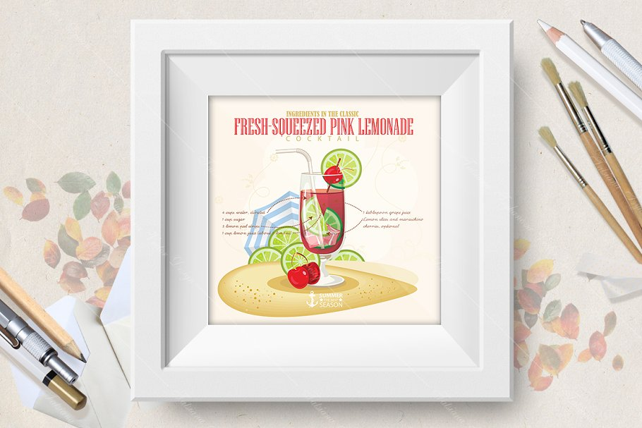 Fresh Squeezed Pink Lemonade in Illustrations - product preview 8