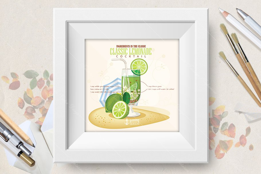 Cocktail Classic Lemonade poster in Illustrations - product preview 8