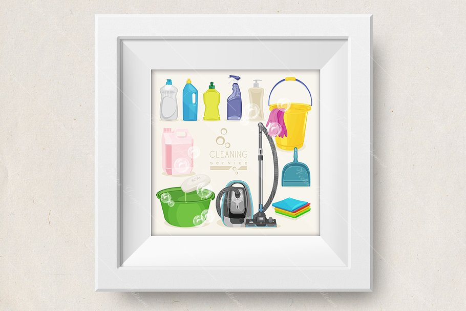 Cleaning vector in Illustrations - product preview 8