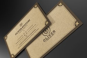 Elegant Kraft Business  Card #61