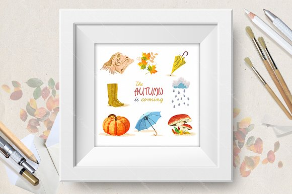 Autumn vector set in Illustrations - product preview 1