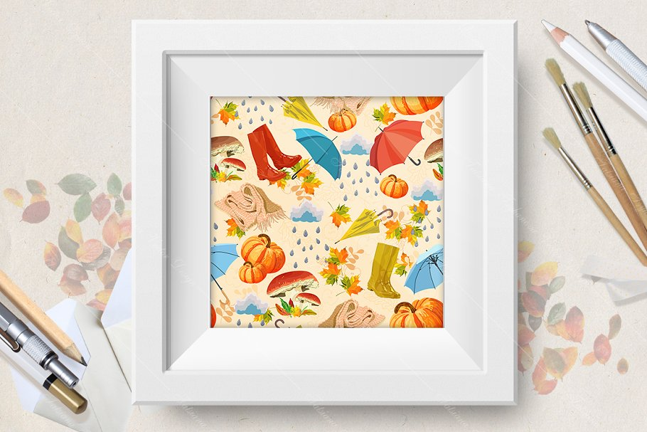 Autumn seamless pattern in Patterns - product preview 8