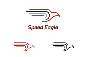 Abstract Eagle Flying Logo