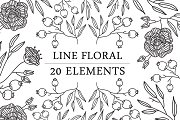 Line Floral Element