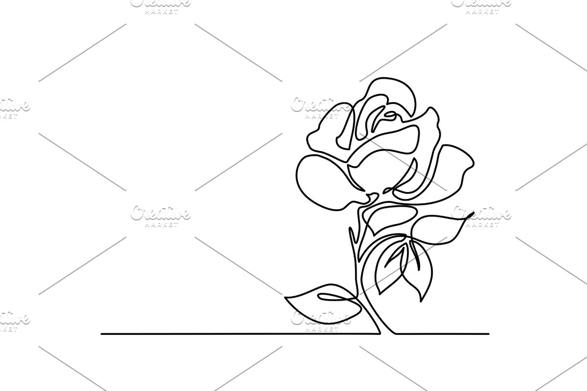 One Drawing of beautiful flower in Illustrations - product preview 8