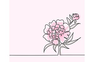 Drawing of beautiful flower