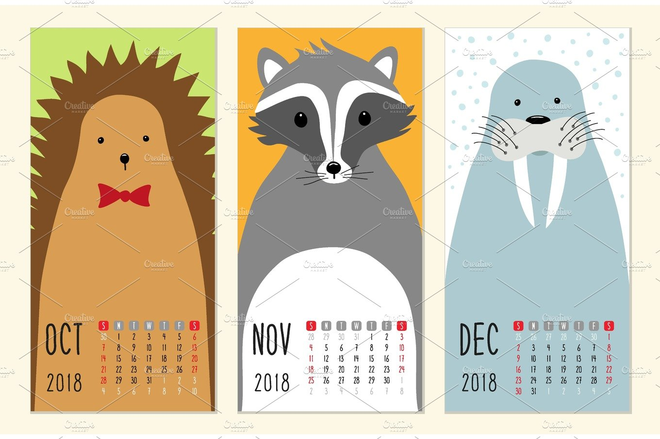 cute 2018 calendar pages with funny