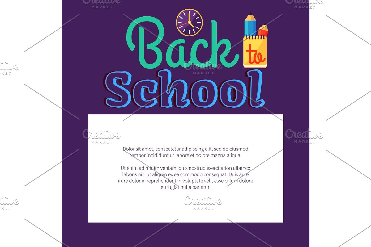Back to School Poster with Place for Text in Frame in Objects - product preview 8