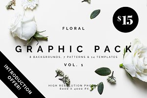 Floral Graphic Pack + bonus files