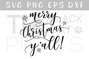 Merry Christmas Yall! SVG DXF PNG