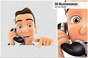 3D Businessman on Phone