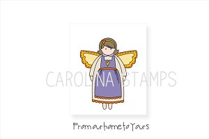 Home Angel Digital Stamp