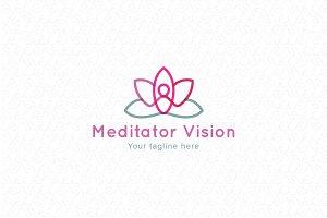 Meditator Vision - Human Figure Logo