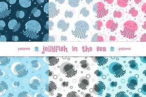 """Patterns """"Gellyfish in the sea"""""""