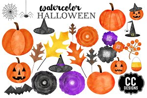 Halloween Watercolor Graphic Clipart