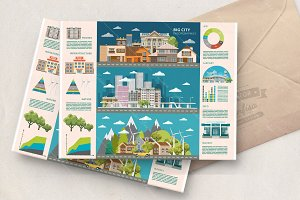 City life in vector set