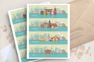 Tokio. Beijing. Bangkok. Seul