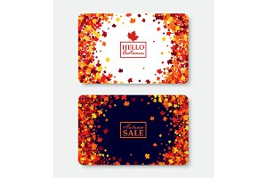 Autumn gift card layout templates