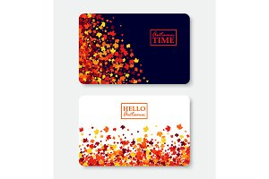 Autumn Time & Hello Autumn gift card