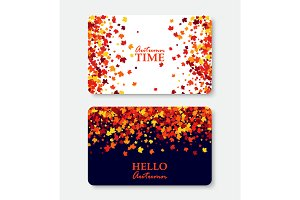 Autumn shopping gift cards